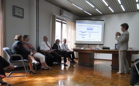 Primeira reunião após o pacto discute procedimentos para facilitar o acesso dos segurados aos seus direitos. Foto: Divulgação ACS/SC