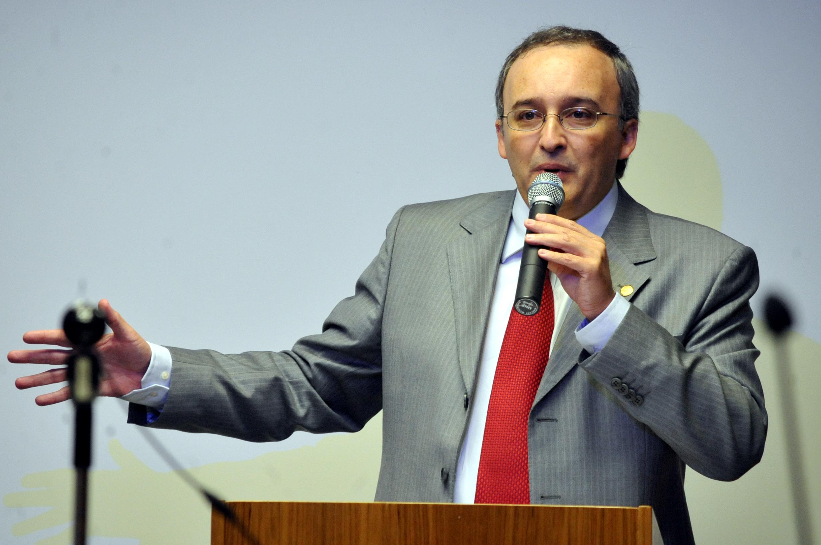 Rodrigo Assumpção faz palestra no Fórum. Foto: Elza Fiúza/Abr