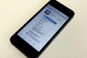 O aplicativo do E-recursos pode ser baixado de graça na Apple Store. Foto: Nicolas Gomes
