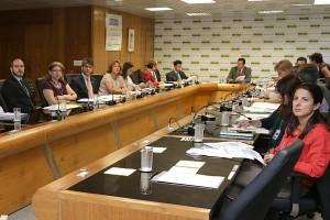 Técnicos brasileiros e italianos apresentam os respectivos sistemas de seguro contra acidentes de trabalho (Foto: Erasmo Salomão Ascom/MPS)