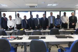 Representantes de países de língua portuguesa conhecem Sala de Monitoramento do INSS. Foto: Erasmo Salomão/MPS