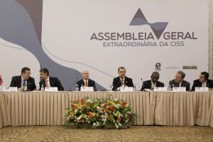 Vice-presidente da CISS, Carlos Gabas, fala sobre os desafios da transição demográfica. Foto: Erasmo Salomão/MTPS.