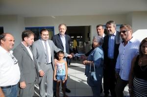 Ministro do Trabalho e Previdência Social, Miguel Rossetto, durante inauguração de escolas no RS