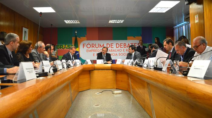Reunião do Fórum em 2015. Foto: Renato Alves/MTPS