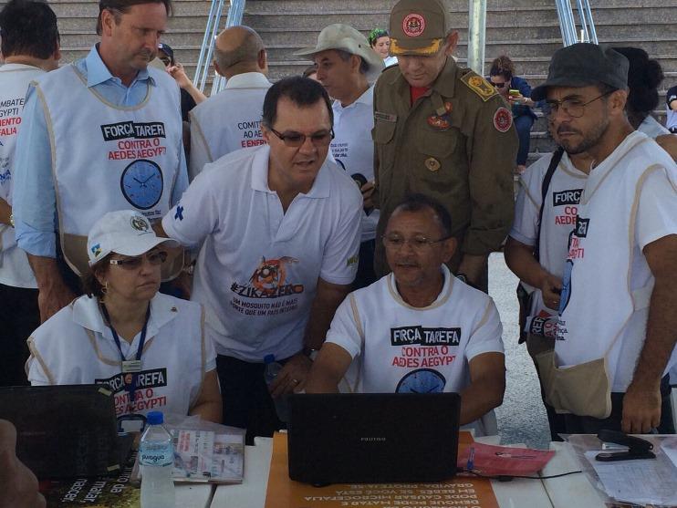 Secretário Carlos Gabas participou do dia de mobilização em Rondônia. Foto: Marco Túlio/MTPS