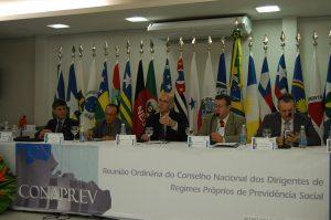 O Secretário de Previdência Marcelo Caetano fala durante reunião do Conaprev. FOTO: Morgana Taíse Gomes Farias/Igeprev (TO)